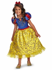Snow White Sparkling Deluxe Girls Costume