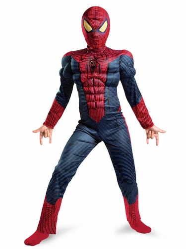 Spider-Man Movie Muscle Light Up Boys Costume