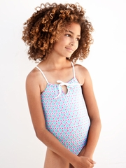 Stella Cove I Am Loved Turquoise w/ Pink Hearts 1PC Swimsuit