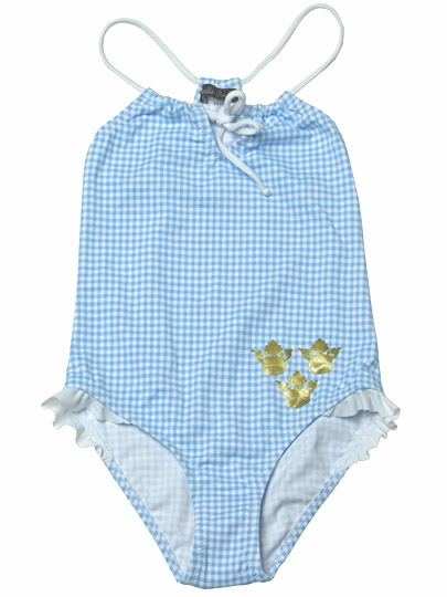 d2774cad12067 ... Stella Cove Princess Blue & White Gingham w/ Frills 1PC Swimsuit. Click  to Enlarge Click to Enlarge