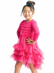 "Stella Industries Fuchsia ""Celeste"" Ruffle Dress"