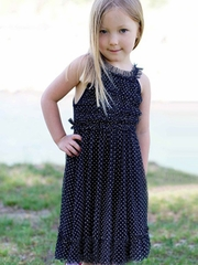Stella Industries Navy White Dot �Summer� Dress