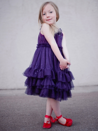 "Stella Industries Plum ""Starlet Sparkle"" Dress"