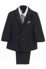 Little Gents 3582 Boy's Dark Gray 5 Piece Suit