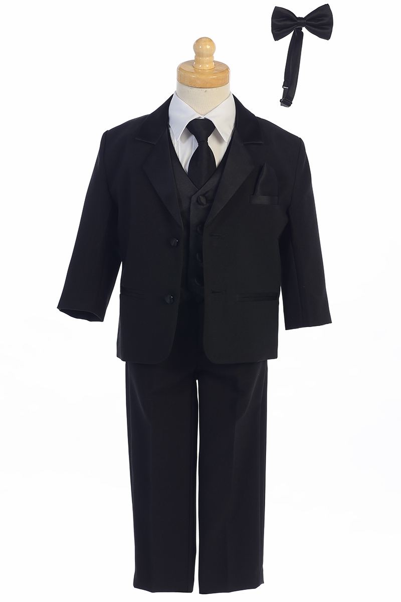 Toddler Boys/' 5 Piece Classic Fit Formal Tuxedo Bow Tie Set Choice of Colors