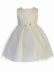 Swea Pea & Lilli M206 Ivory Striped Tulle Dress