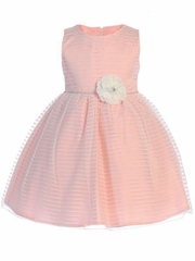 Swea Pea & Lilli M206 Pink Striped Tulle Dress