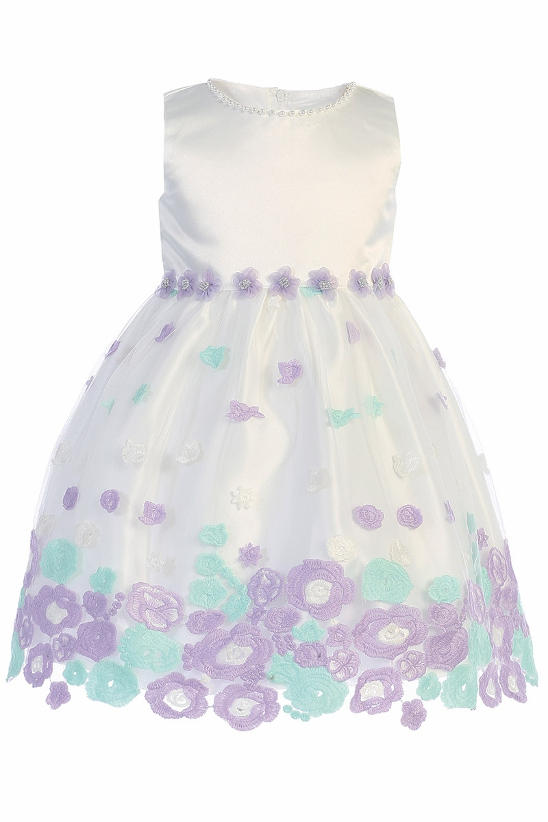 79f44ec2788d ... Ivory & Lilac Floral Embroidered Tulle Dress. Click to Enlarge
