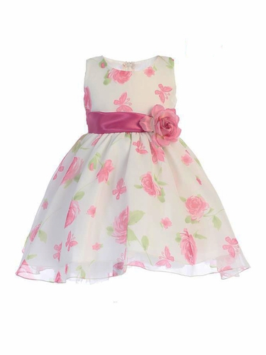 Swea Pea & Lilli M737 Organza Floral and Butterfly Dress