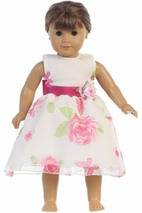 "Swea Pea & Lilli M737Z Organza Floral 18""� Doll Dress"