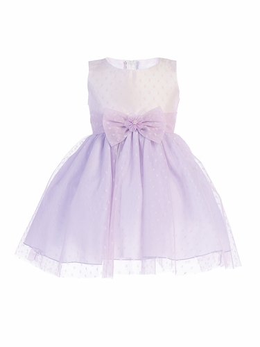 Swea Pea & Lilli M739 Lilac Polka-Dot Tulle Dress