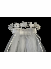 Swea Pea & Lilli Organza & Satin Flower Communion Headpiece
