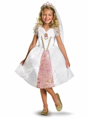 Tangled Rapunzel Wedding Gown Girls Costume