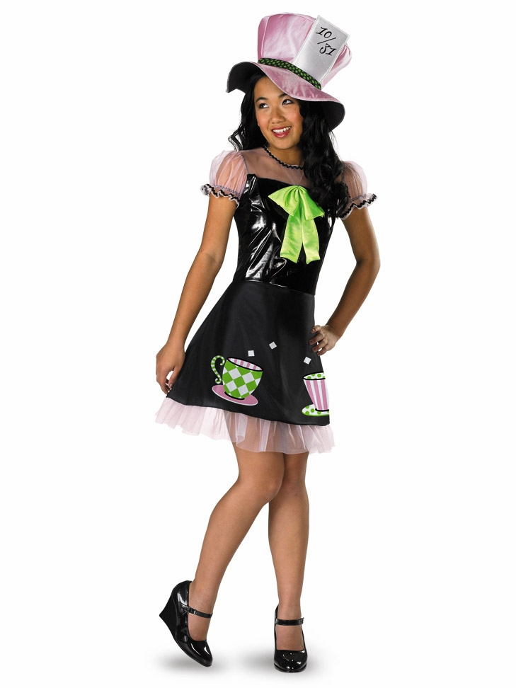 Tea time mad hatter kids costume for Cool halloween costumes for kids girls