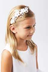 Tip Top Kids 195 White Floral Headband