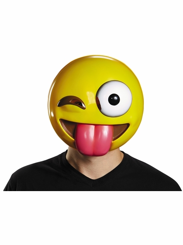 Tongue Out Adult Emoticon Mask