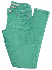 Tractr Jeans Green 5 Pocket Basic Skinny