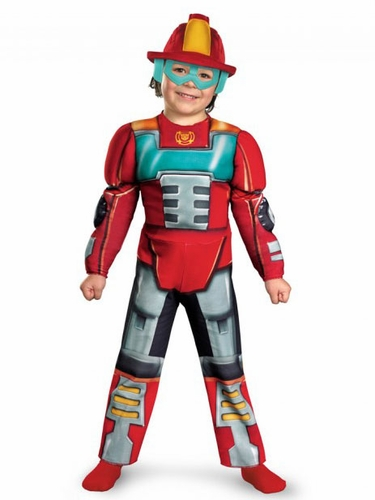 Transformers Heatwave Rescue Bot Muscle Costume