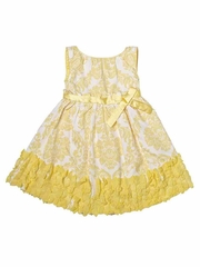 Trish Scully Child Buttercup Damask Sleeveless Evelyn Dress