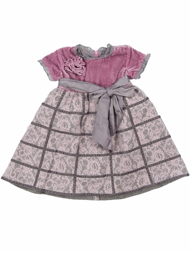 Trish Scully Child Heirloom Short Sleeve Pleated Dress