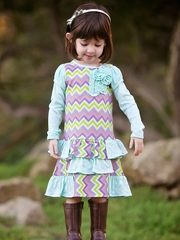 FLASH SALE:  Trish Scully Child �Missoni Inspiration� Sequin T-Shirt Dress