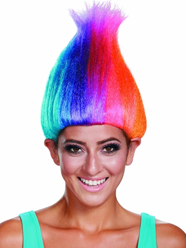 Trolls Rainbow Colored Licensed Adult Wig