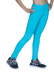Turquoise  ChloeNoel Solid Color Skinny Yoga Off Ice Elite Pant w/ Front Pocket