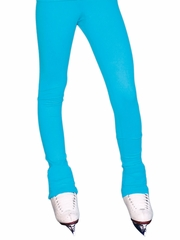 Turquoise  ChloeNoel Solid Over The Heel Elite Skating Pants w/ Front Pocket & Swarovski Crystal Block