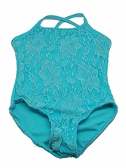 Turquoise Lace Leotard