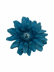 Turquoise Large Gerber Daisy Flower on Clip