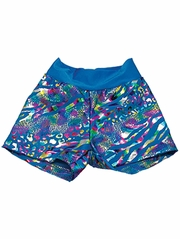 Turquoise Leopard Shorts