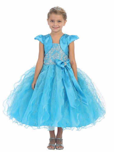 Turquoise Pageant Dress