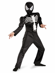 Ultimate Black Spider-Man Classic Muscle Boys Costume