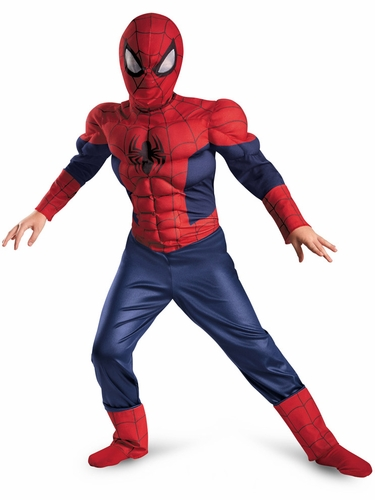 Ultimate Spider-Man Classic Muscle Boys Costume
