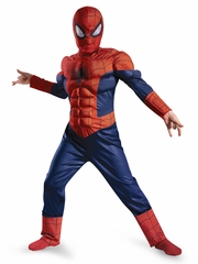Ultimate Spider-Man Light Up Muscle Boys Costume