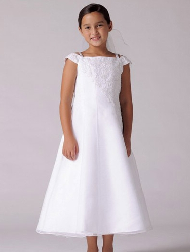 US Angels Communion Off Shoulder Lace Appliqué