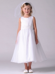 US Angels Sleeveless w/ Beaded Cummerbund Dress