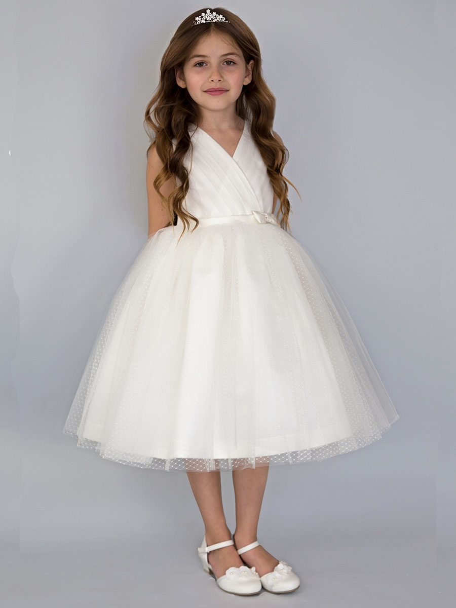 US Angel/'s Flower Girl Special Occasion Dress Style 702 Ivory size 14