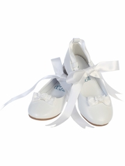 White Ballerina Shoe w/ Satin Ribbon