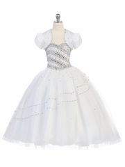 White Beaded Ball Gown w/ Bolero
