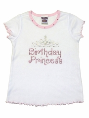 White Birthday Princess Tiara Tee
