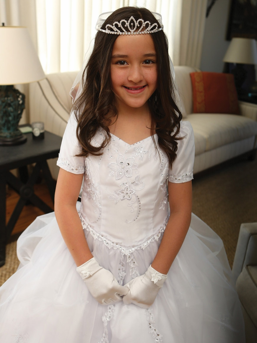 d561aebf7f ... White Communion Embroidered Organza Dress w  Pick-Up Organza Overlay.  Click to Enlarge Click to Enlarge ...