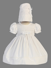 White Cotton Smocked Dress