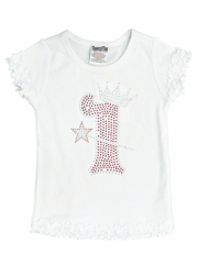White Crown & Wand Birthday Tee