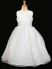 White Glitter Bodice Dress
