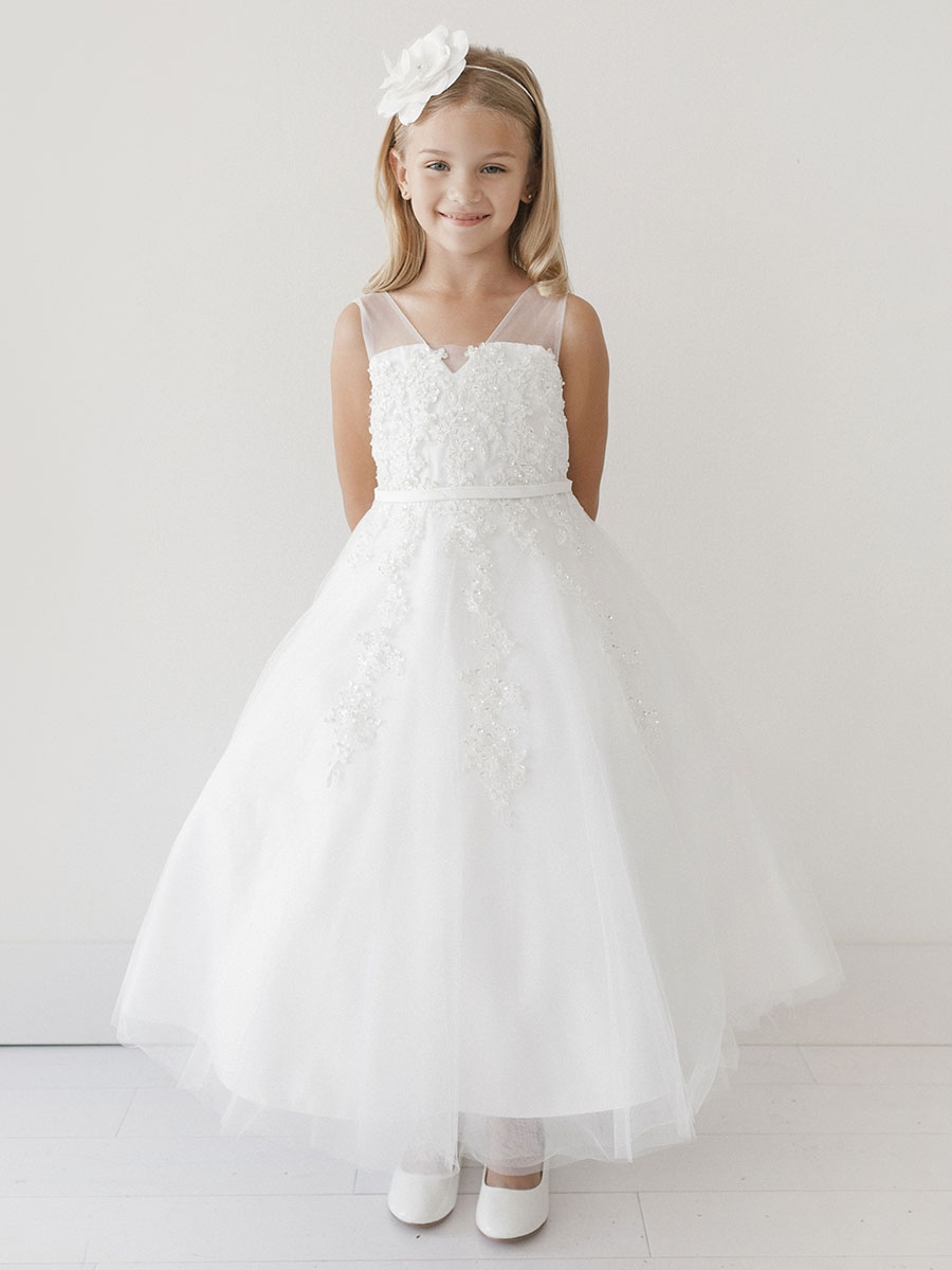 a8d8a18bf350 White Flower Girl Dresses - PinkPrincess.com