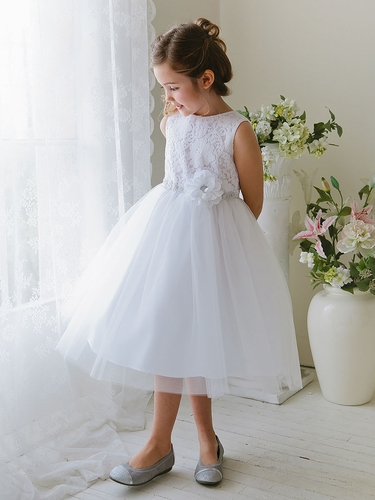 White Lace & Tulle Dress