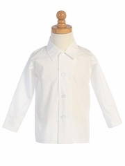White Long Sleeve Boys Dress Shirt