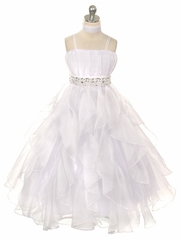 White Organza Special Occasion Dress