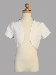 White Poly Cotton Bolero